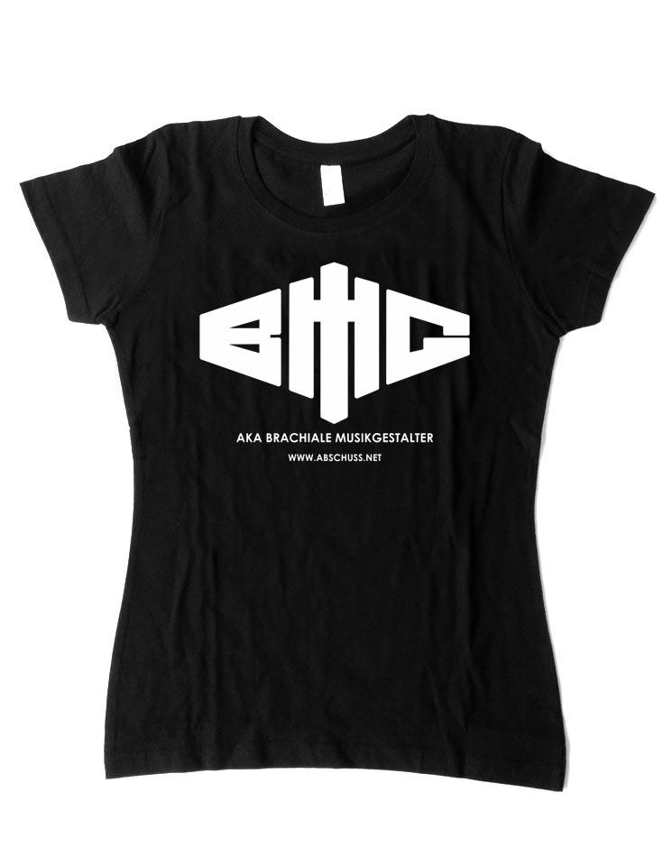 Girly T-Shirt Logo weiß auf schwarz