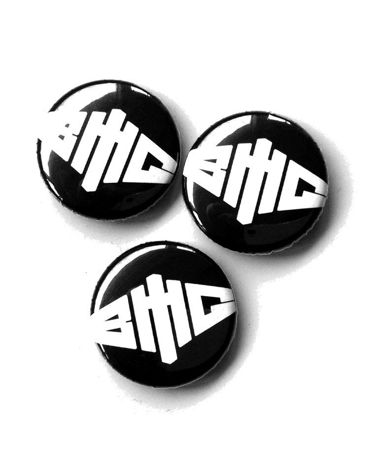 Button Logo weiß auf schwarz