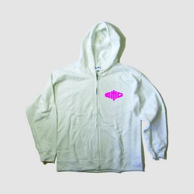 Girly Kapuzenjacke Logo pink auf weiß