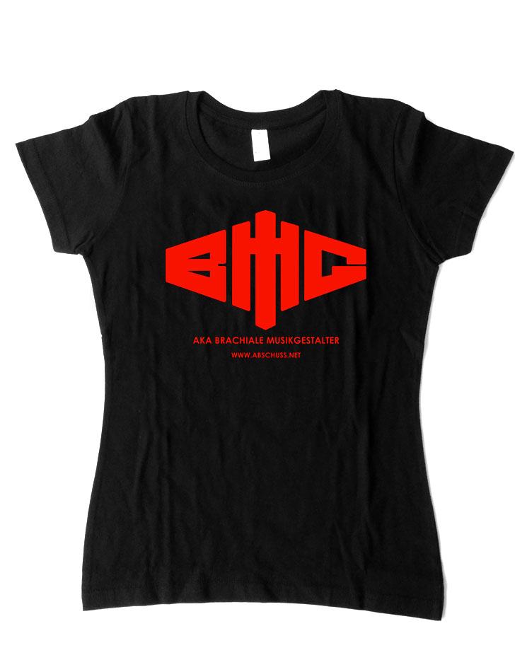 Girly T-Shirt Logo rot auf schwarz
