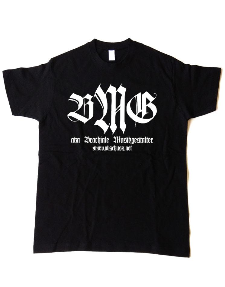 T-Shirt Retro weiß auf schwarz