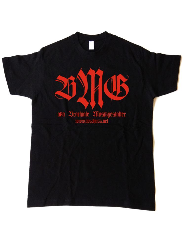 T-Shirt Retro rot auf schwarz