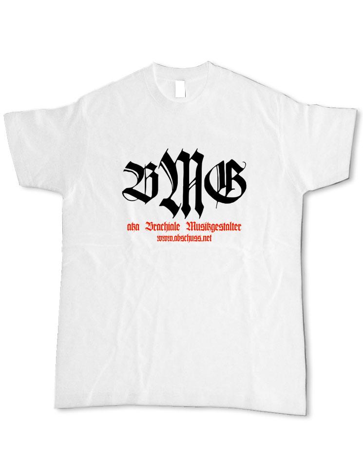 T-Shirt Retro schwarz-rot auf weiß