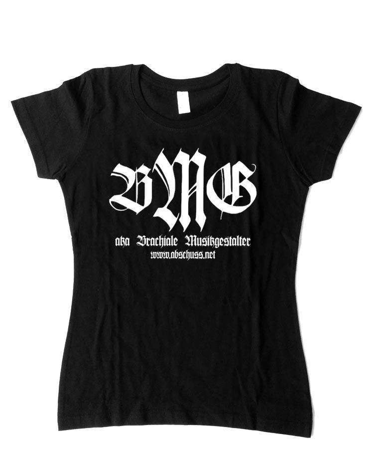 Girly T-Shirt Retro weiß auf schwarz