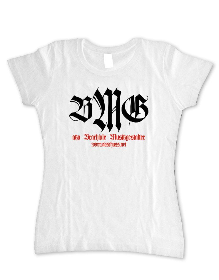 Girly T-Shirt Retro schwarz-rot auf weiß