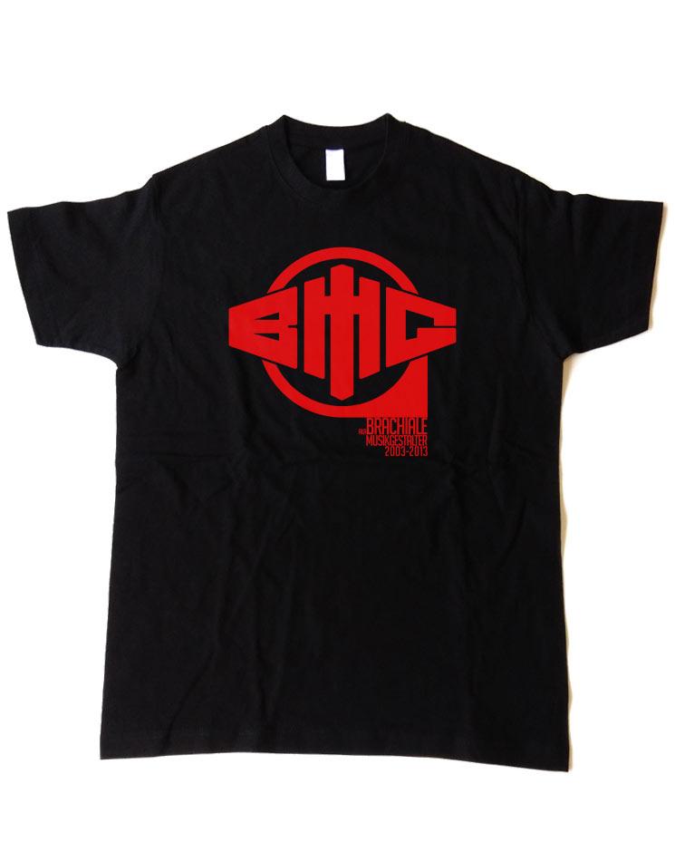 T-Shirt Anniversary rot auf schwarz