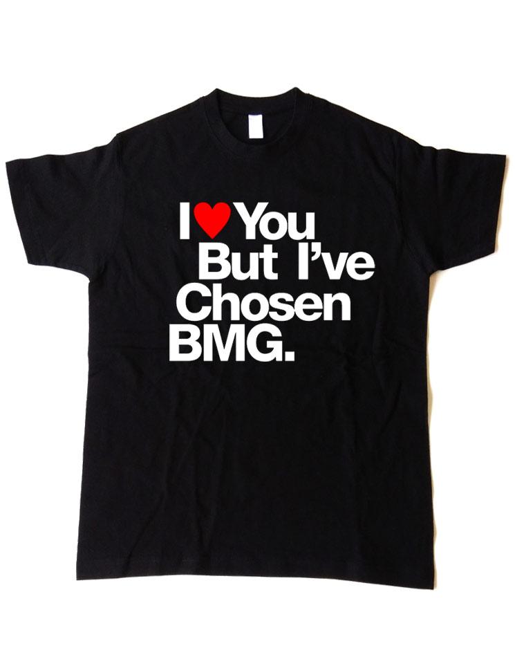T-Shirt I love you weiß-rot auf schwarz