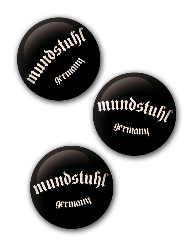 Button - Mundstuhl - Germany weiß auf schwarz