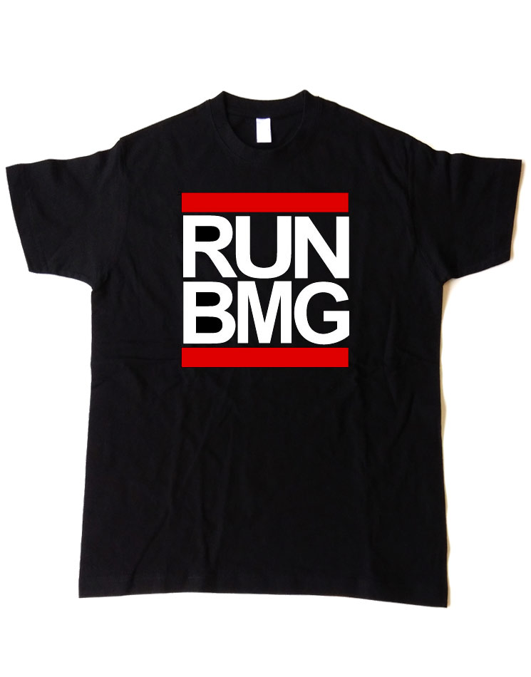 RUN BMG Shirt schwarz