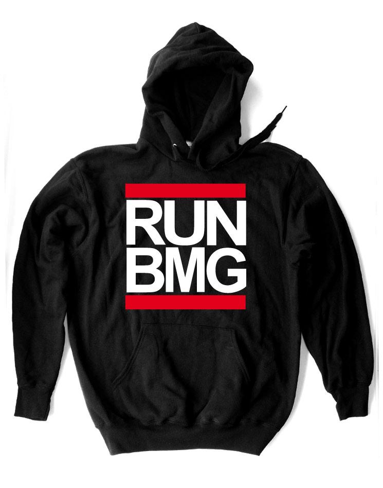 RUN BMG Kappu weiß/rot auf schwarz