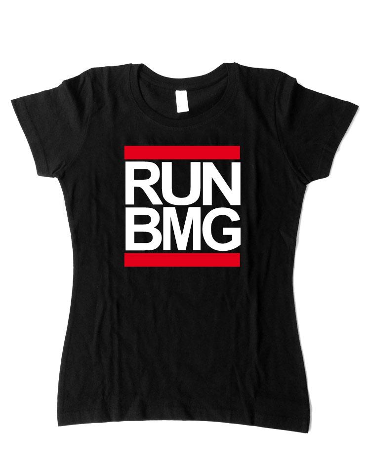 RUN BMG Girly weiß/rot auf schwarz