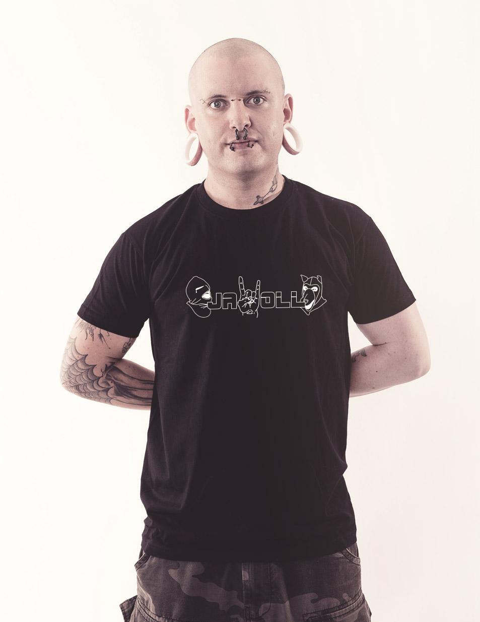 Jawoll Shirt weiß auf schwarz
