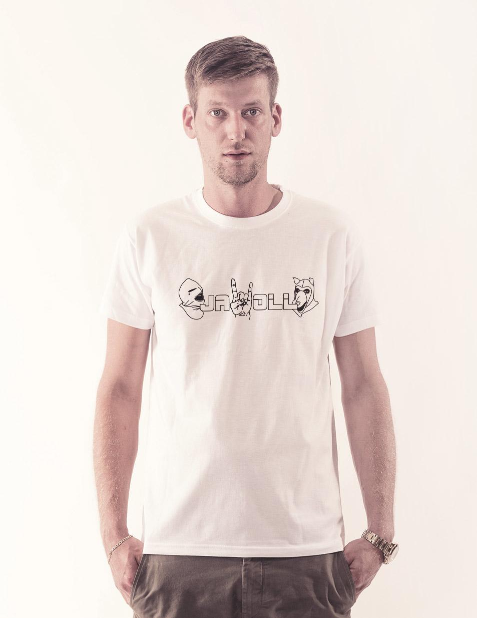Jawoll Shirt schwarz auf weiß