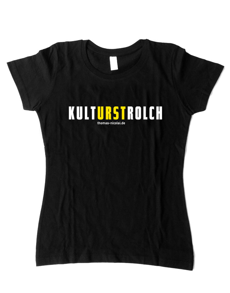 KultURSTrolch Damenshirt mehrfarbig auf schwarz