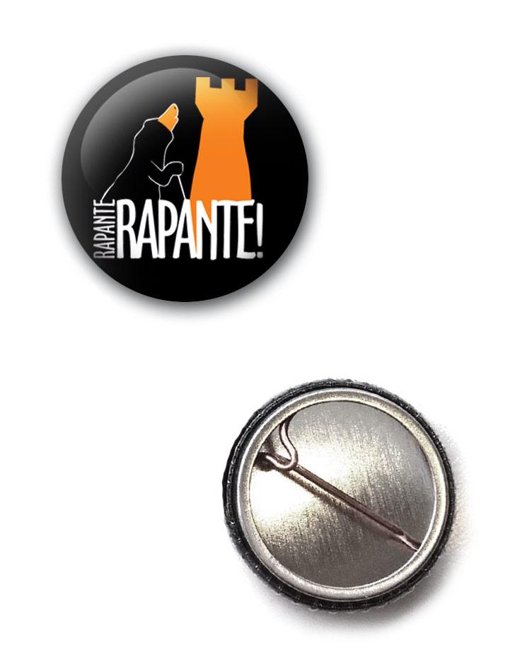 Rapante Button mehrfarbig auf schwarz