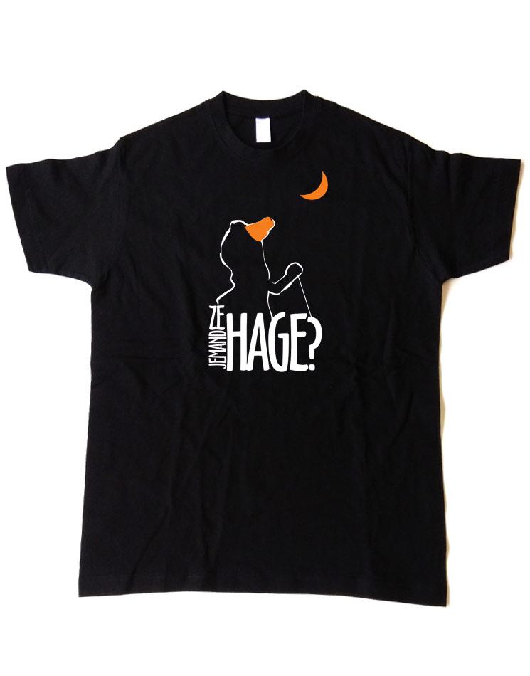 Jemand ze Hage T-Shirt mehrfarbig auf schwarz