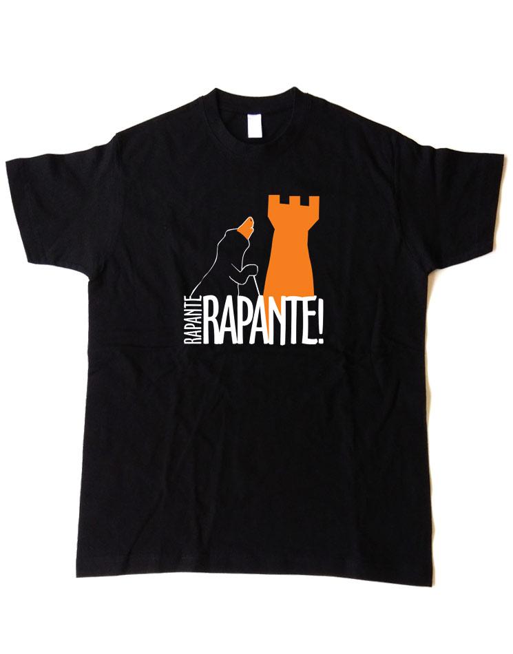 Rapante T-Shirt mehrfarbig auf schwarz