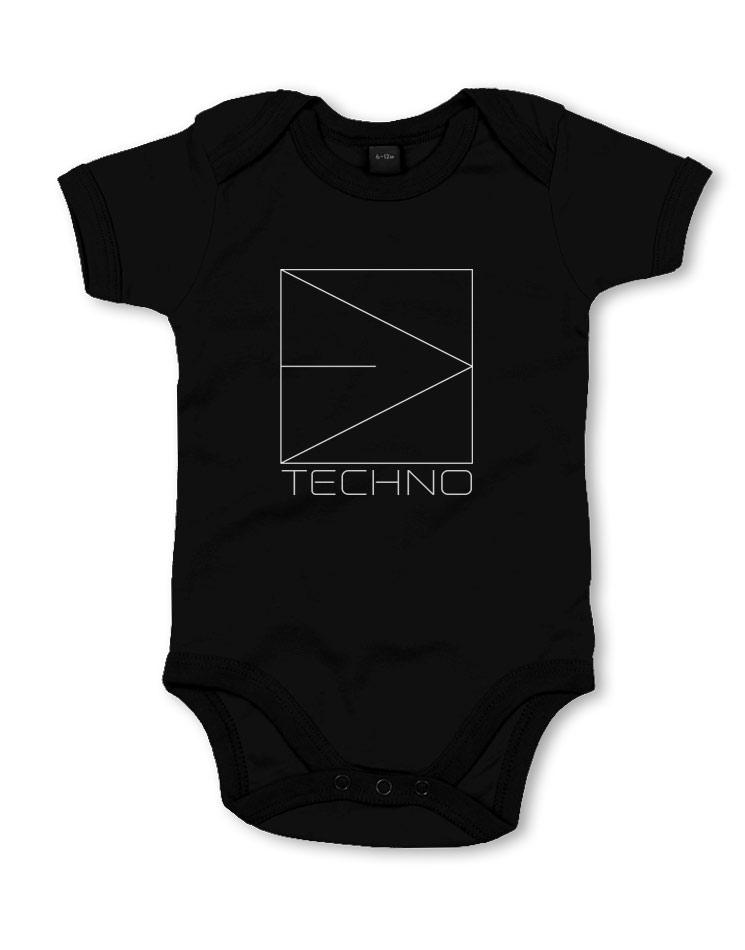 Babystrampler Techno