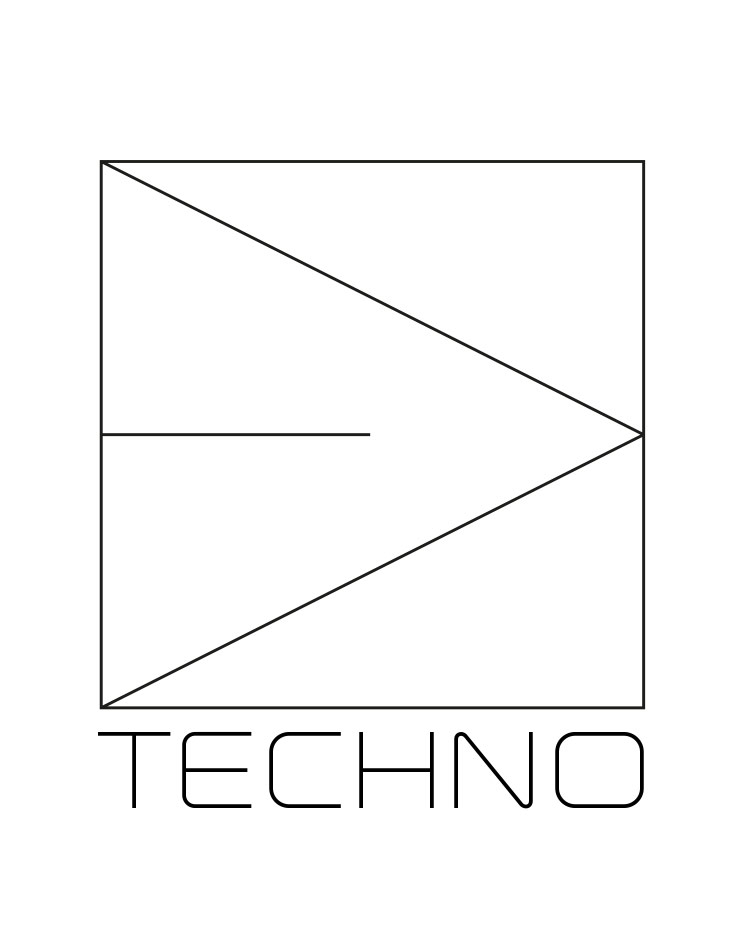 Heckscheibenaufkleber Techno