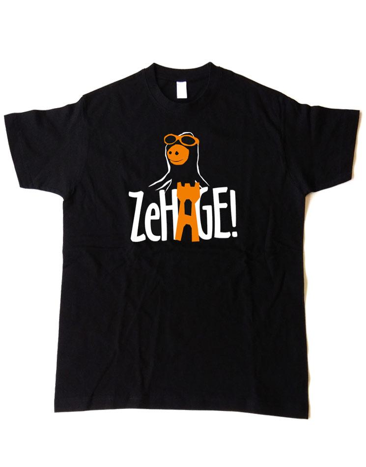 Ze Hage T-Shirt mehrfarbig auf schwarz