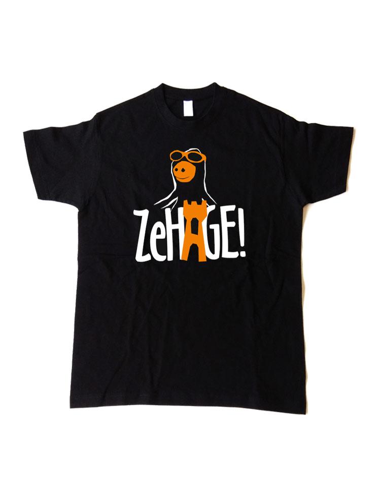 Ze Hage Kinder T-Shirt mehrfarbig auf schwarz