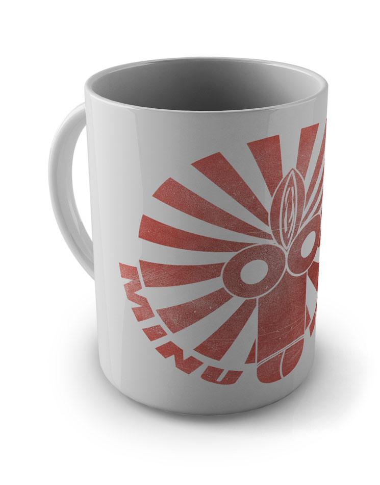 Fotzenpimmel-Tasse rot auf weiß