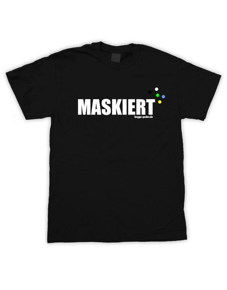 Maskiert schwarz