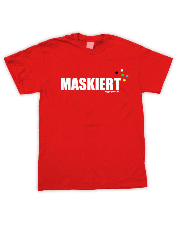 Maskiert rot