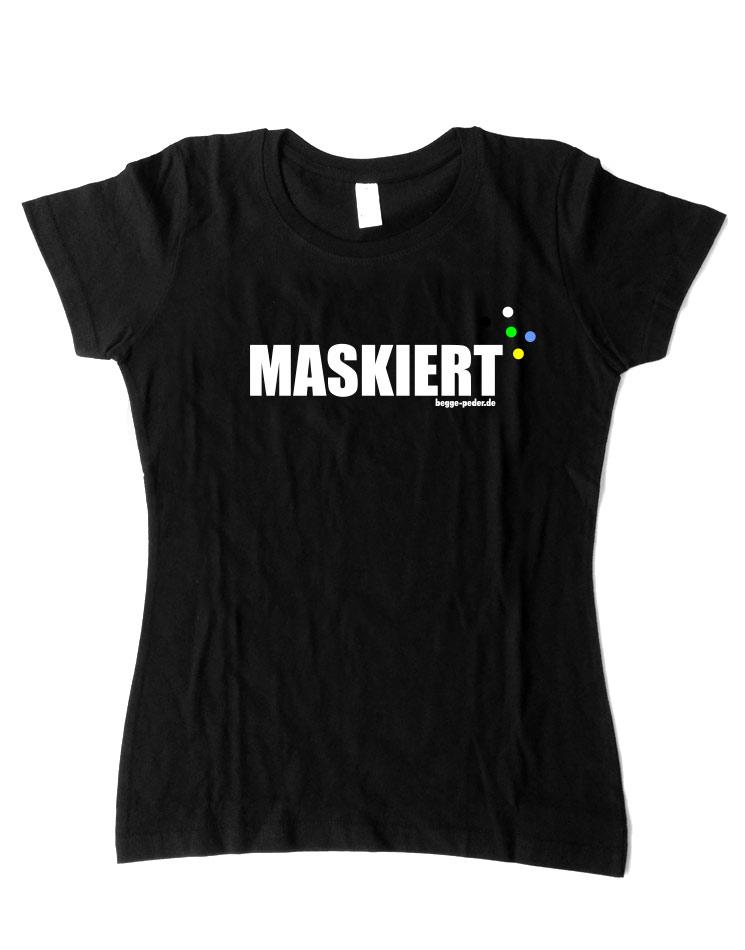 Maskiert mehrfarbig auf schwarz