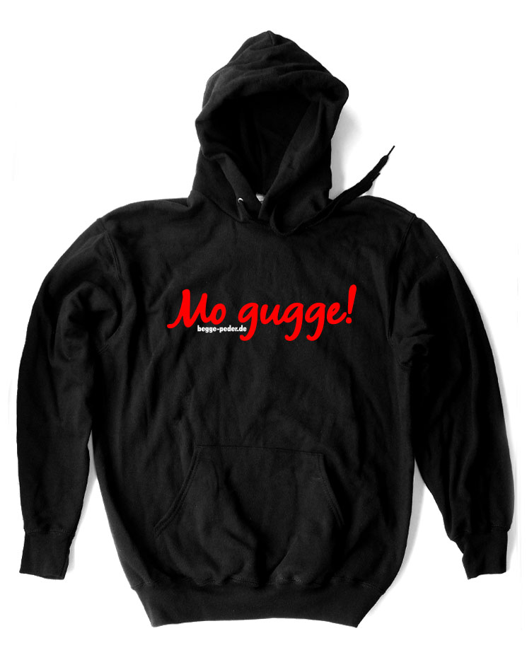 Mo gugge Kappu rot auf schwarz