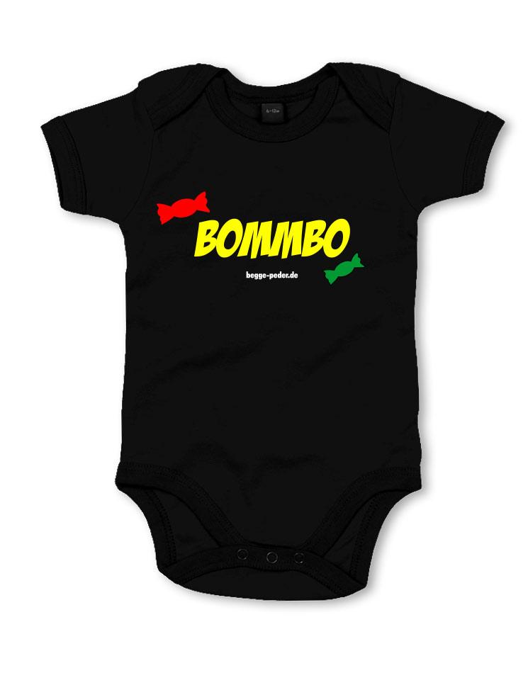 Bommbo Babybody mehrfarbig auf schwarz