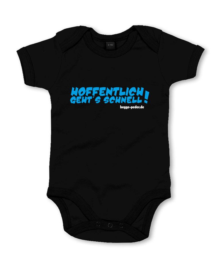 begge peder online shop babykleidung hoffentlich gehts schnell babybody blau auf schwarz. Black Bedroom Furniture Sets. Home Design Ideas