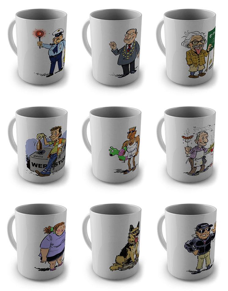6er Set Tassen