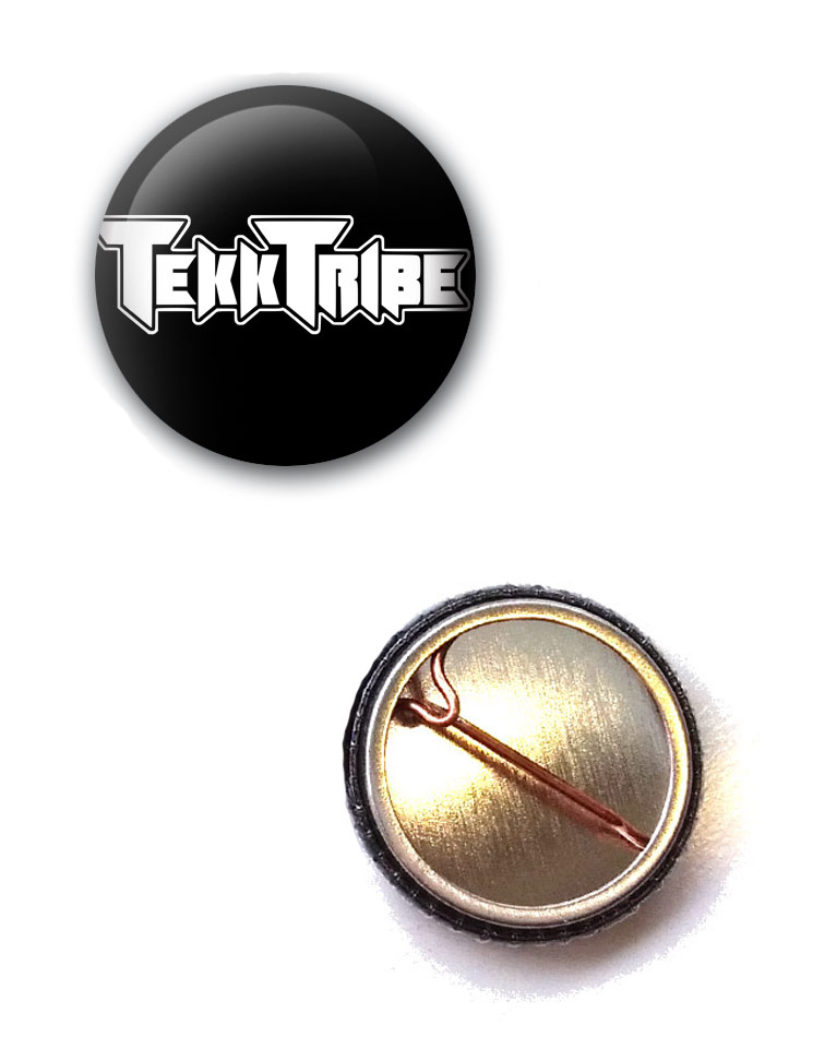 TekkTribe Button schwarz