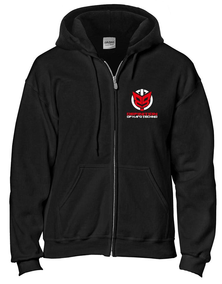 Defintion of Hardtechno Jacke 2-farbig mehrfarbig auf schwarz
