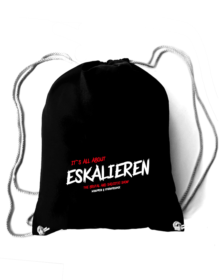 Its all about Eskalieren Rucksack schwarz