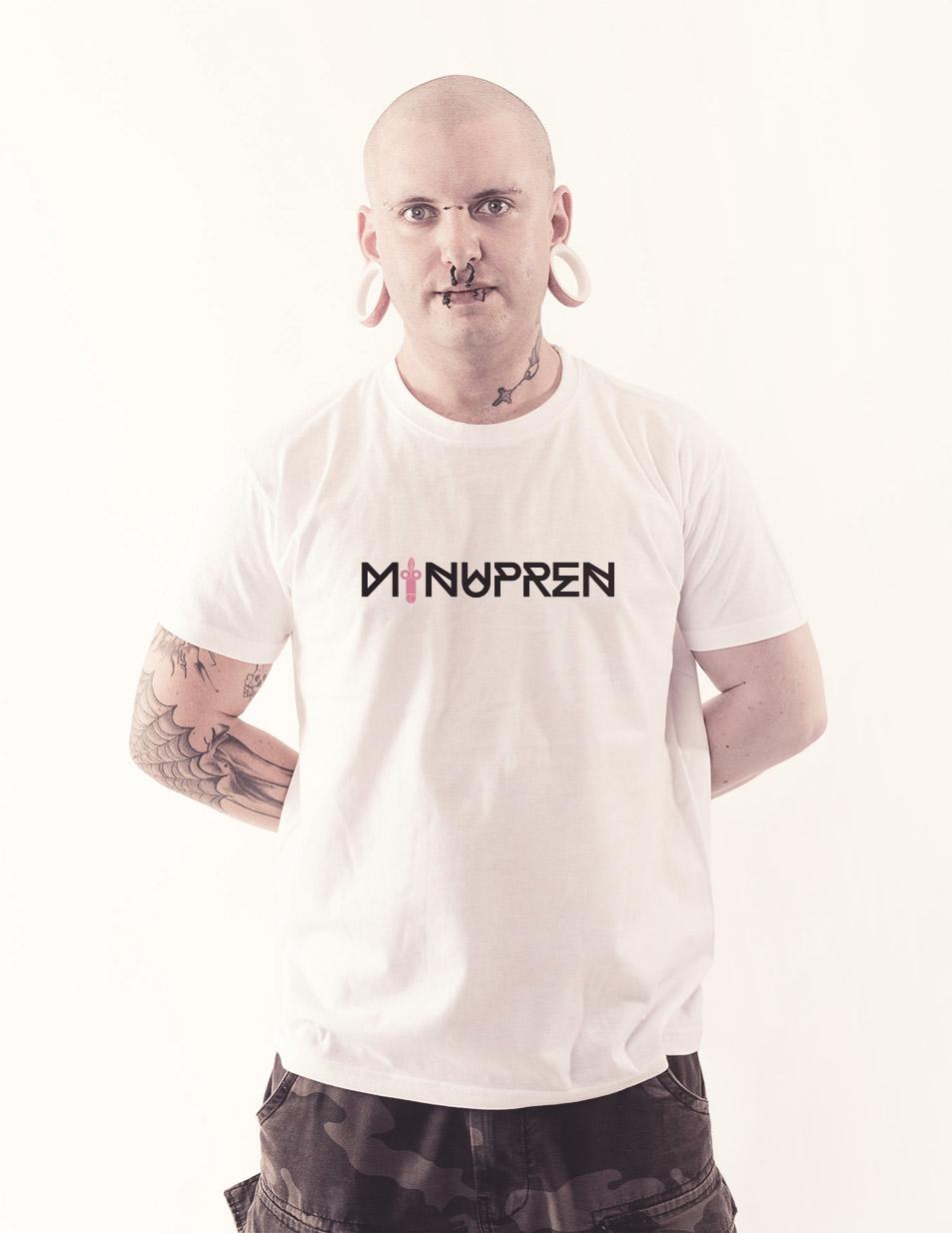 Minupren Shirt mehrfarbig auf weiß