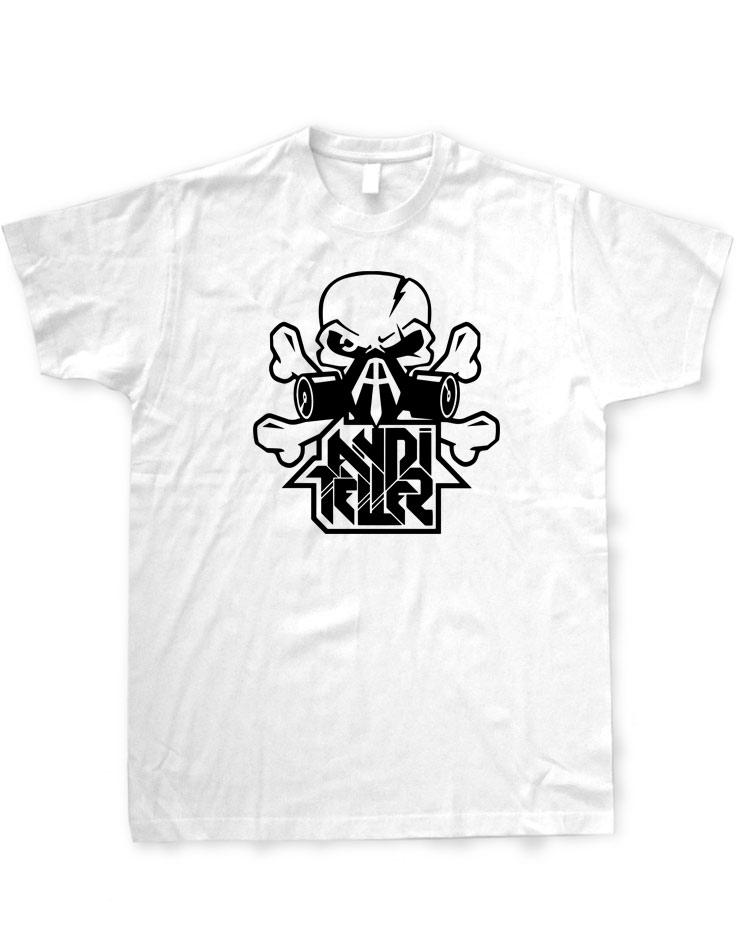 Andi Teller T-Shirt schwarz auf weiß