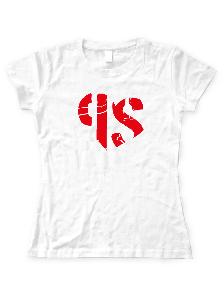 Petra Struwe Girly T-Shirt rot auf weiß