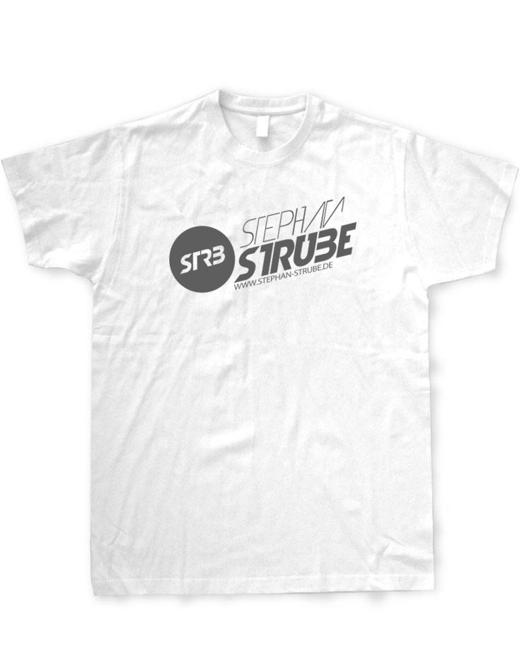 Stephan Strube T-Shirt grau auf weiß