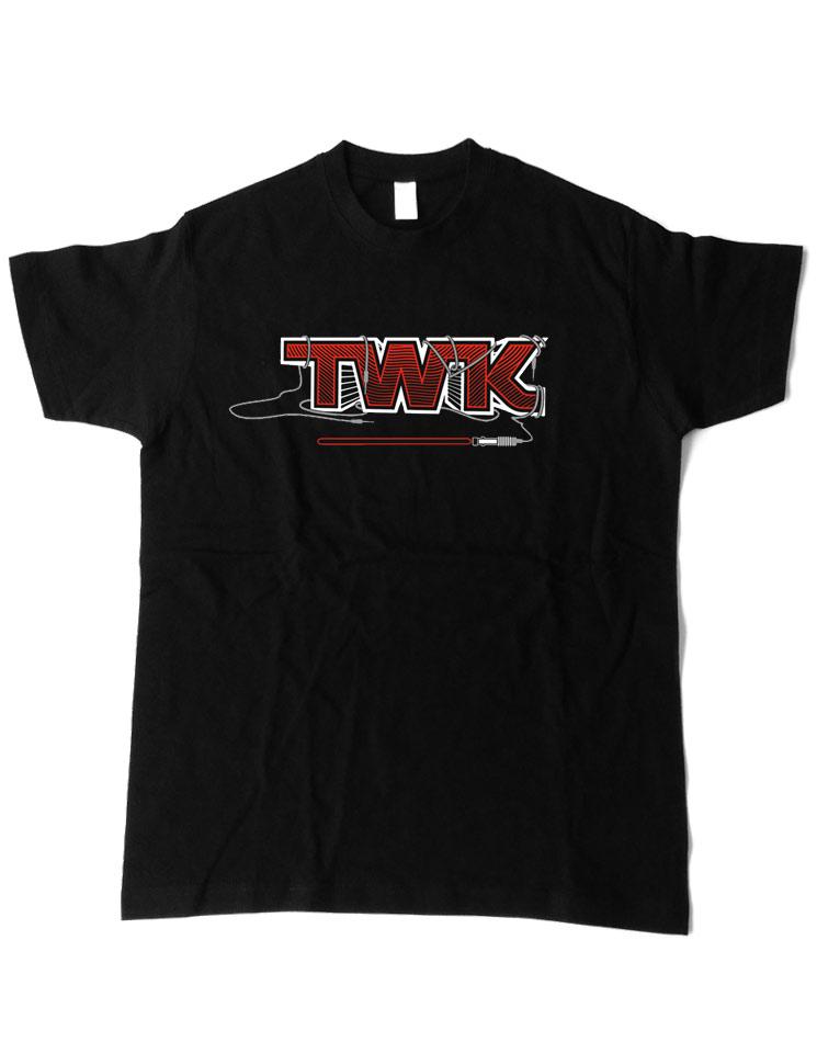 Tobi Wan Kenobi T-Shirt rot auf schwarz
