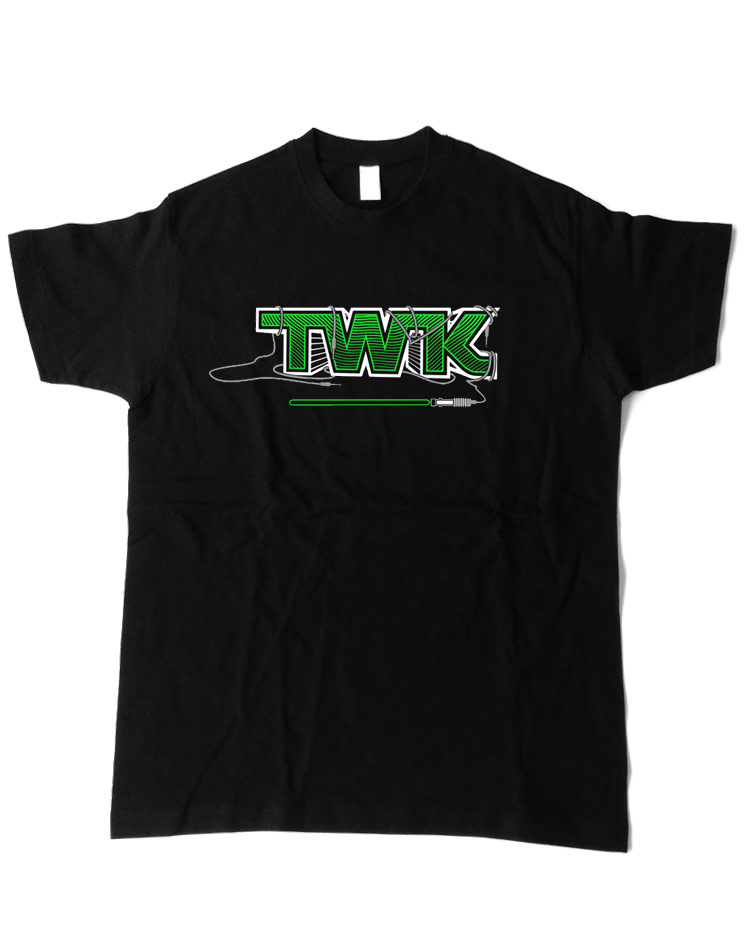Tobi Wan Kenobi T-Shirt grün auf schwarz