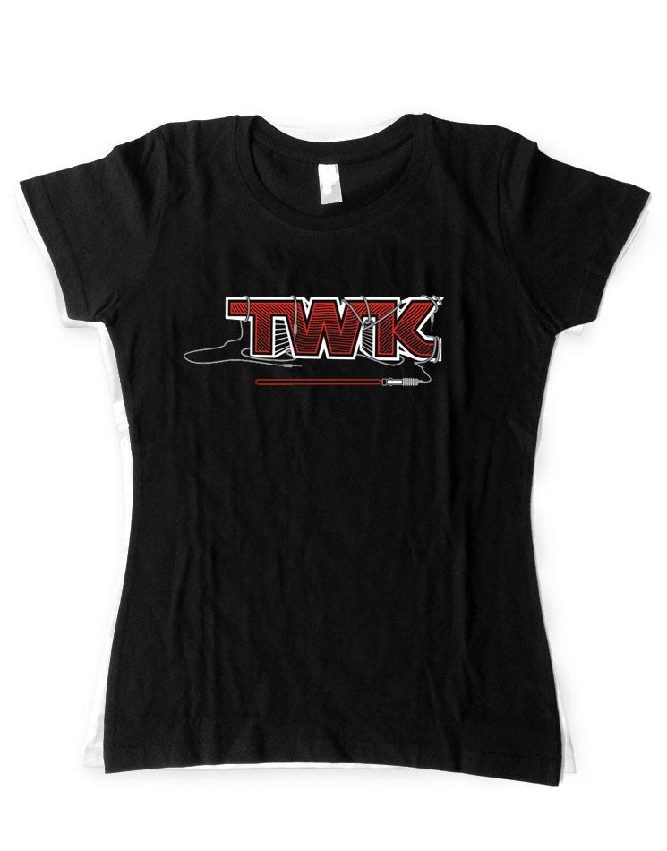 Tobi Wan Kenobi Girly T-Shirt rot auf schwarz