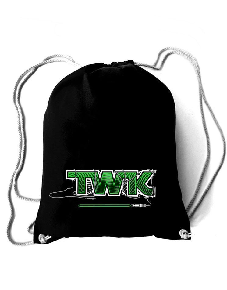 Tobi Wan Kenobi Baumwollrucksack grün auf schwarz