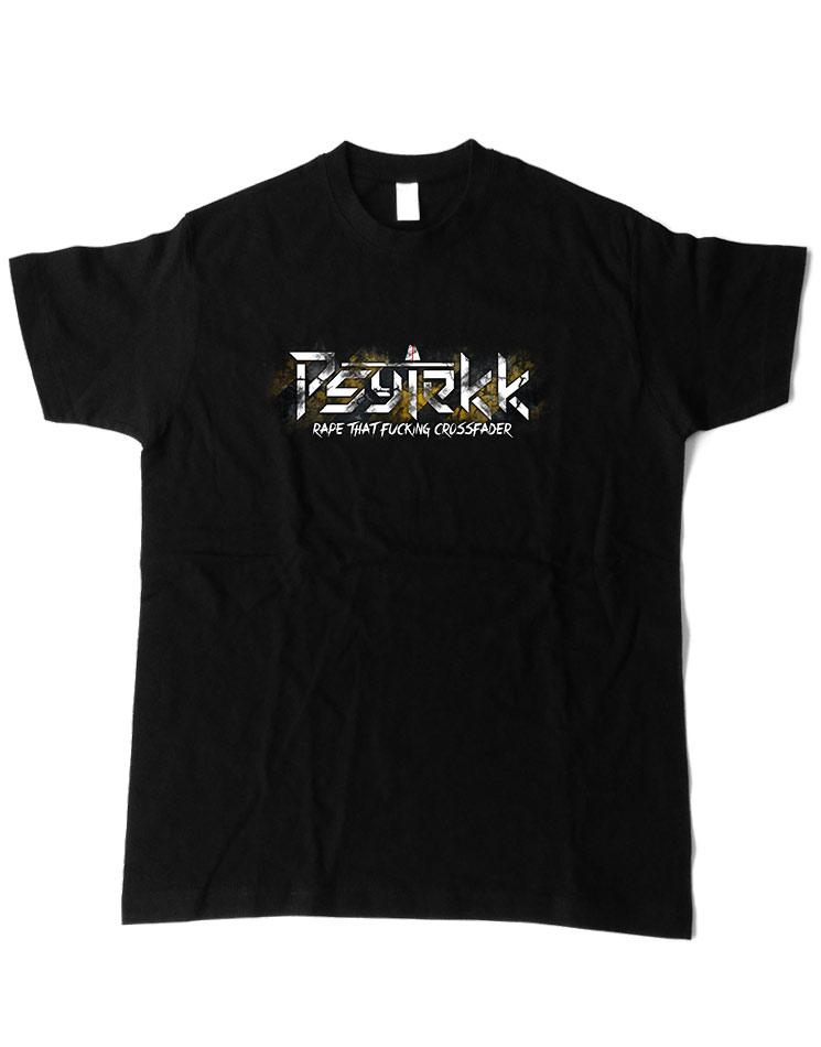 Psytekk T-Shirt mehrfarbig auf schwarz