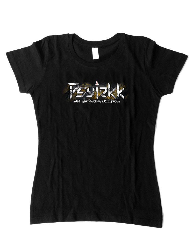 Psytekk Girly T-Shirt mehrfarbig auf schwarz