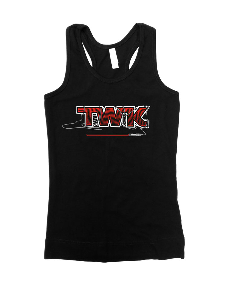 Tobi Wan Kenobi Girly Tank Top weiß/rot auf schwarz
