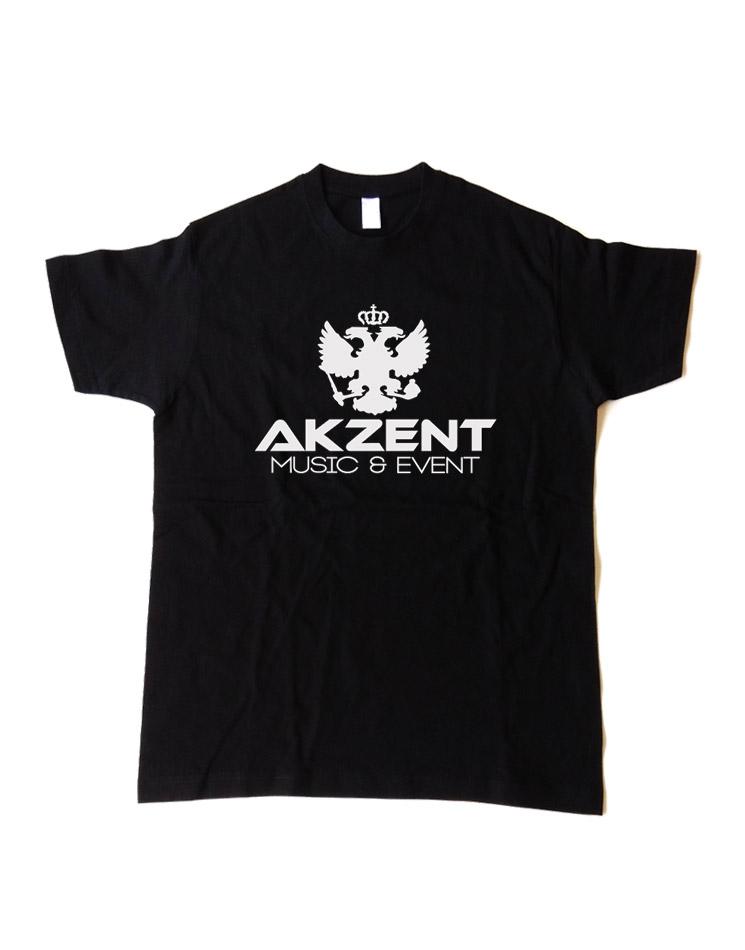 Akzent Kinder T-Shirt weiß auf schwarz