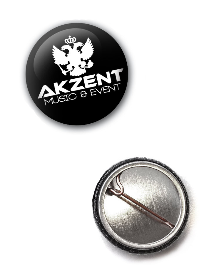 Akzent Button weiß auf schwarz