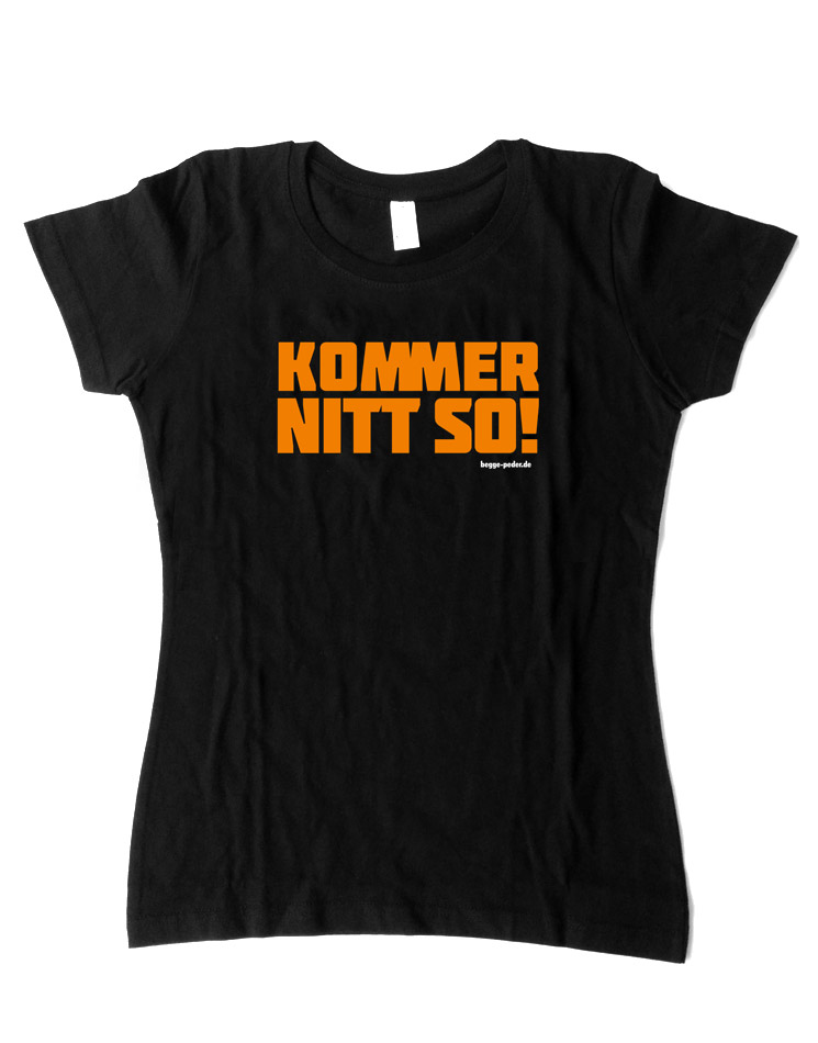 Kommer nitt so Girly T-Shirt schwarz